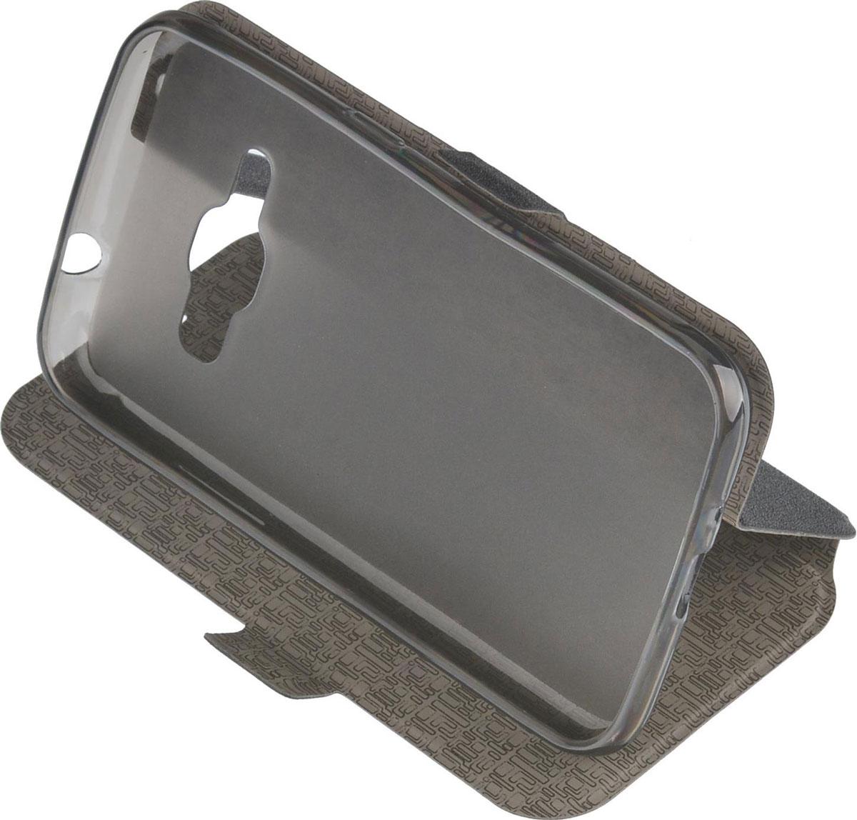 Prime Book чехол для Samsung Galaxy J1 (2016), Black2000000090917Чехол Prime Book для Samsung Galaxy J1 (2016) выполнен из высококачественного поликарбоната и экокожи. Он обеспечивает надежную защиту корпуса и экрана смартфона и надолго сохраняет его привлекательный внешний вид. Чехол также обеспечивает свободный доступ ко всем разъемам и клавишам устройства.