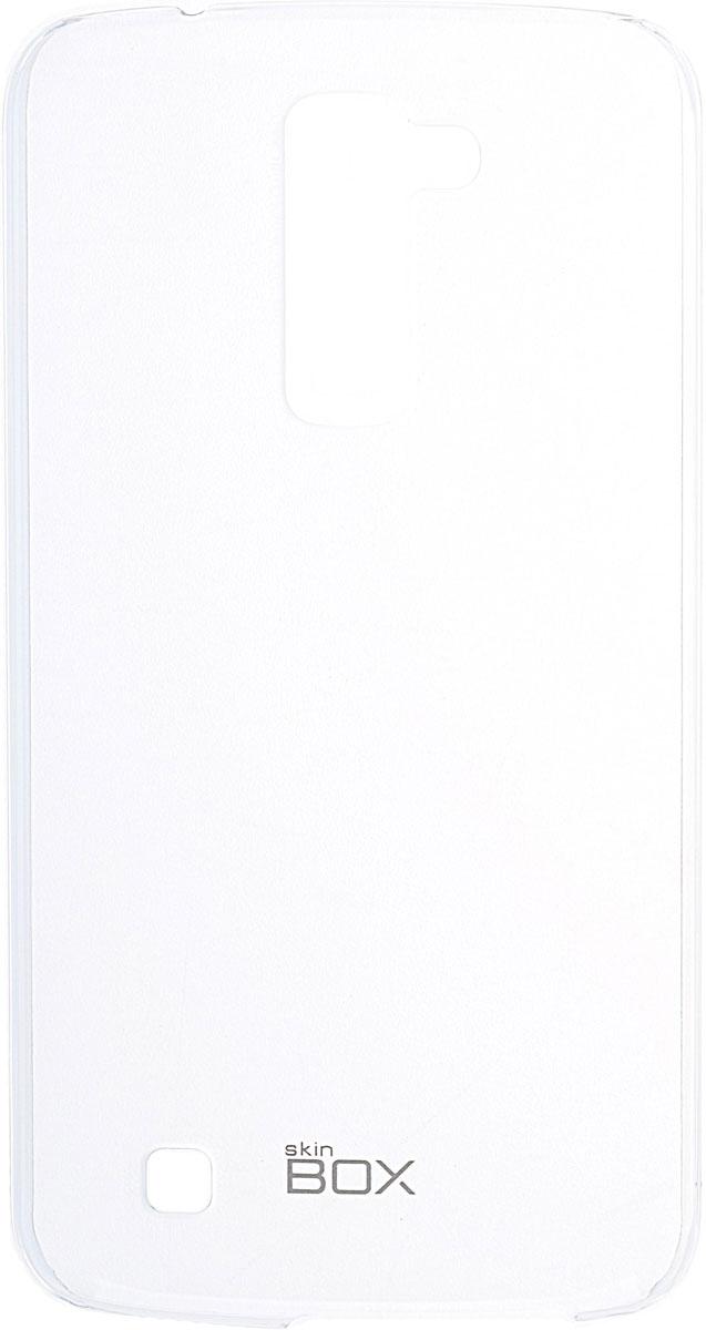 Skinbox 4People Crystal чехол для LG K10, Transparent2000000091754Чехол Skinbox 4People Crystal для LG K10 бережно и надежно защитит ваш смартфон от пыли, грязи, царапин и других повреждений. Выполнен из высококачественных материалов, плотно прилегает и не скользит в руках. Чехол оставляет свободным доступ ко всем разъемам и кнопкам устройства.