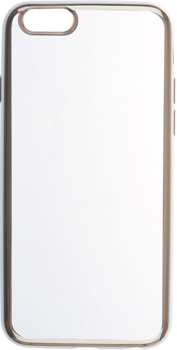 Skinbox 4People Silicone Chrome Border чехол для Apple iPhone 6/6s, Silver чехол накладка чехол накладка iphone 6 6s 4 7 lims sgp spigen стиль 1 580075