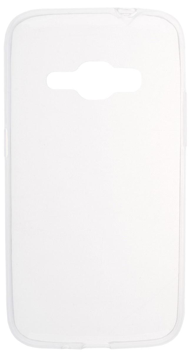 Skinbox 4People Slim Silicone чехол для Samsung Galaxy J1 (2016), Transparent2000000090788Чехол-накладка Skinbox 4People Slim Silicone для Samsung Galaxy J1 (2016) надежно защитит тыльную и боковые стороны вашего смартфона от внешних воздействий, грязи, пыли, брызг. Он также поможет при ударах и падениях, не позволив образоваться на корпусе царапинам и потертостям. Накладка выполнена из высококачественного силикона, плотно прилегает и не скользит в руках. Чехол также обеспечивает свободный доступ ко всем разъемам и клавишам устройства.