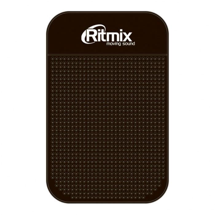 Ritmix RCH-003, Black силиконовый коврик-держатель для смартфонов15118368Ritmix RCH-003 - это противоскользящий силиконовый коврик, который надежно зафиксирует мобильный телефон, КПК, iPod, радар-детектор, монеты и другие мелкие предметы на приборной панели вашего автомобиля. Благодаря специальной структуре поверхности, коврик препятствует соскальзыванию предметов при движении, ускорении или торможении автомобиля. Данный коврик фиксирует предметы даже на поверхностях с углом наклона 60-90 градусов.Крепление без использования магнитов или клейких материаловУдерживающий эффект усиливается на горизонтальных поверхностяхМатериал: силиконРазмеры: 14,3 х 8,7 см