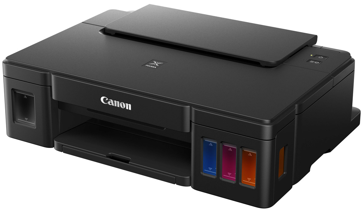 Canon PIXMA G1400 струйный принтер0629C009Высокопроизводительный однофункциональный принтер Canon PIXMA G1400 идеален для высококачественной и недорогой печати документов и фотографий дома или в офисе.Не всем нужно многофункциональное устройство, поэтому Canon создали принтер PIXMA G1400. Эта модель имеет все преимущества серии PIXMA G и является простым в использовании принтером, обеспечивающим высокое качество печати в больших объемах.Более высокое качество отпечатков с высококачественными пигментными черными и цветными чернилами, для печати четких документов и невероятно ярких изображений. Печать фотографий формата 10х15 см (4x6) без полей всего за 60 секунд.Дизайн струйного принтера PIXMA G1400 тщательно продуман. Чернильницы расположены во фронтальной части, так чтобы заправка чернил, отслеживание их уровня во время использования не составило труда. Компактные размеры и элегантный дизайн позволят расположить принтер на рабочем столе, не занимая много места.Canon очень постарались, чтобы система печати сохраняла стабильность при больших объемах. Для этого компания усовершенствовала печатающую головку, созданную по технологии FINE, а также технологию, предотвращающую попадание воздуха в систему подачи чернил.Canon считают, что каждый должен иметь возможность с легкостью создавать превосходные отпечатки. Интегрированное программное обеспечение My Image Garden позволяет систематизировать, сортировать и редактировать фотографии, чтобы без труда получать необходимые отпечатки.