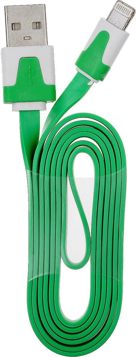 OLTO ACCZ-5015, Green кабель USBO00000253Кабель OLTO ACCZ-5015 для соединения устройств разъемом Apple Lightning c USB-портом. Он может использоваться для передачи данных, зарядки аккумулятора и адаптирован для работы со всеми операционными системами. Главное достоинство OLTO ACCZ-5015 в его внешнем виде. Он выгодно отличается от привычных и скучных расцветок стандартных кабелей.