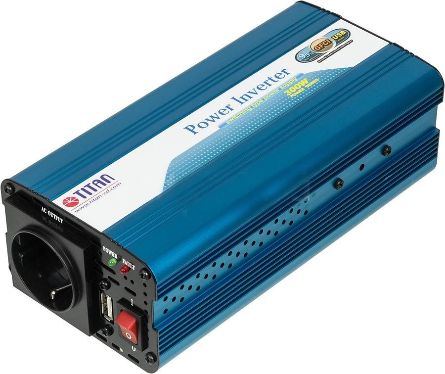 Автоинвертор Titan HW-300V6HW-300V6Портативный адаптер питания компании Titan является идеальным устройством питания для DVD-плееров, мобильных телефонов, ноутбуков и многих других электронных приборов . Адаптирован к большинству типов электронной техники.Многоуровневая защита, в том числе от перегрева, скачков напряжения и перегрузки, обеспечивает безопасность эксплуатации. Несомненно, Titan - Ваш лучший друг в мире систем электропитания!