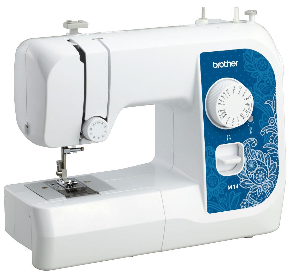 Brother M14 швейная машинаM14Машина Brother M14 идеально подходит для выполнения основных швейных операций при изготовлении и ремонте одежды. Эта надежная машина имеет традиционный набор функций, который необходим для шитья.