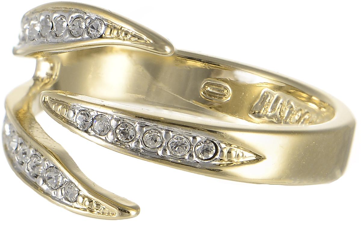 Кольцо Jenavi Флюкс, цвет: золотой, белый. f631q000. Размер 17Коктейльное кольцоОригинальное кольцо Jenavi Флюкс изготовлено из ювелирного сплава с покрытиями из золота и родия. Украшение инкрустировано кристаллами Swarovski.Стильное кольцо придаст вашему образу изюминку и подчеркнет индивидуальность.