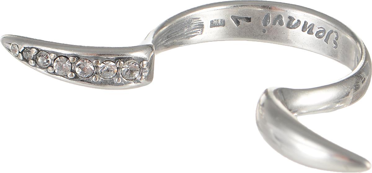 Кольцо Jenavi Алиас, цвет: серебряный, белый. f6343000. Размер 17Кольцо для платкаОчаровательное кольцо Jenavi Алиас изготовлено из ювелирного сплава с покрытием из черненого серебра. Украшение современного дизайна инкрустировано стразами Swarovski.Стильное кольцо придаст вашему образу изюминку и подчеркнет индивидуальность.