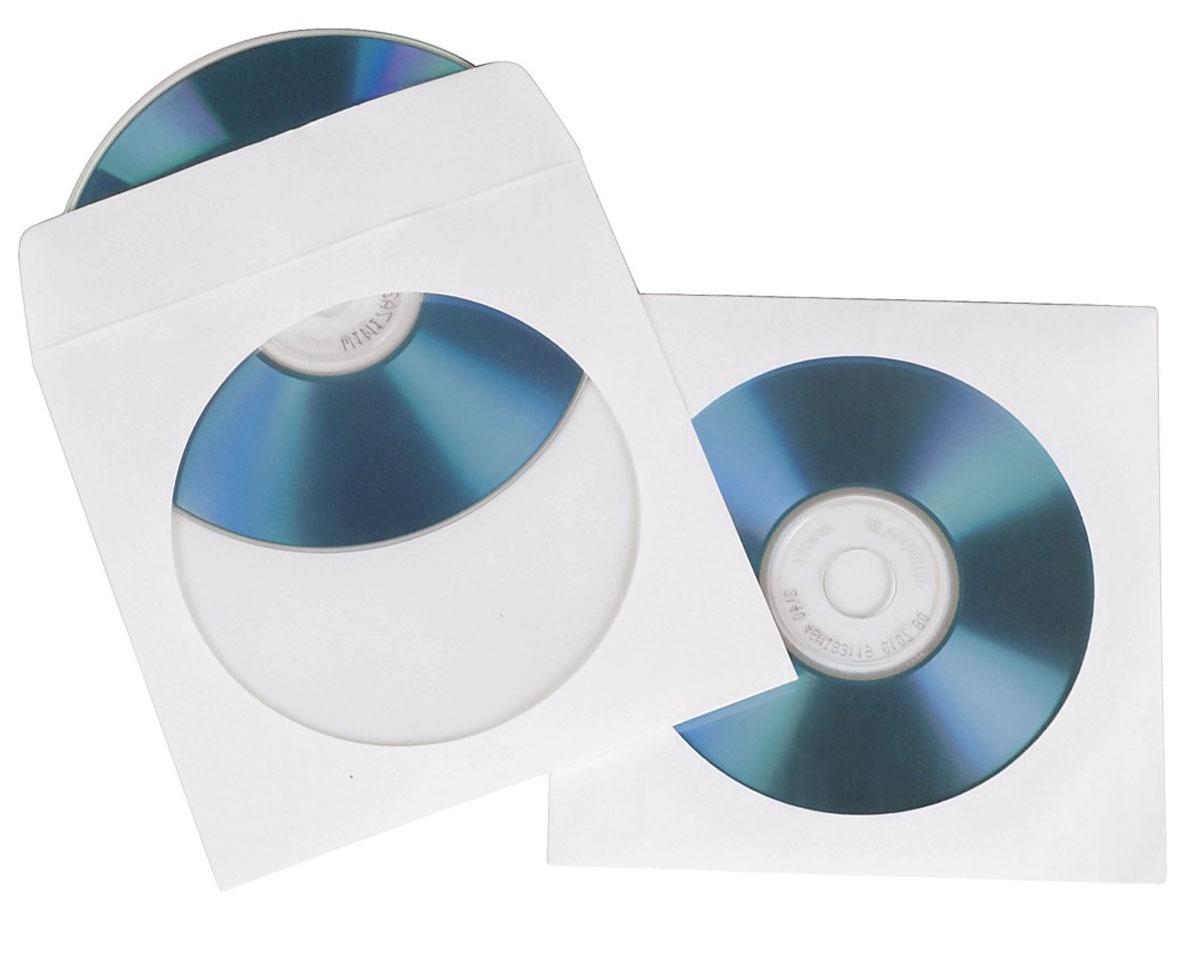 Конверты для CD/DVD Hama H-62671, White (50 шт)62671Конверты Hama H-62671 для CD/DVD с прозрачным окном. Защитят диски от повреждений, пыли и влаги. В комплекте 50 конвертов, каждый из которых рассчитан на 1 диск.