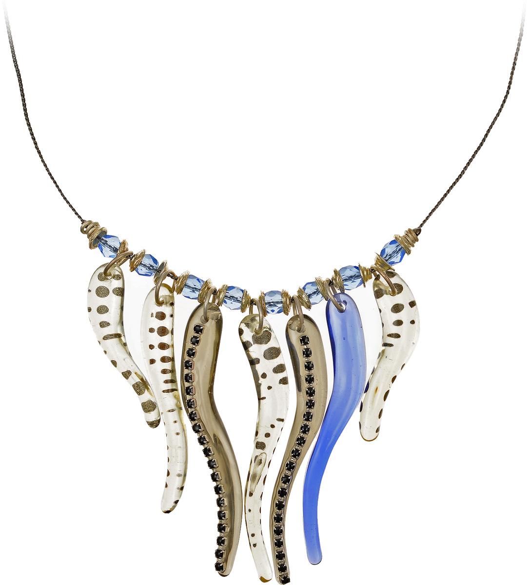 Кулон Lalo Treasures, цвет: серый, синий. P4503-2Брошь-инталияЯркий дизайнерский кулон Lalo Treasures станет отличным дополнением к вашему стилю. Кулон изготовлен из качественной ювелирной смолы и металлического сплава. Декоративная часть кулона выполнена в виде композиции из брусков разной формы в сером и синем цвете, украшенных вставками со стразами.Кулон застегивается на замок-карабин, а длина регулируется с помощью звеньев. Интересный дизайн кулона подчеркнет ваш образ и позволит вам быть оригинальной и изящной.