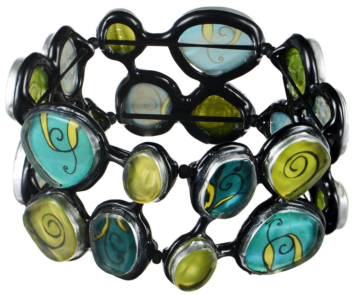 Браслет Lalo Treasures Dragonfly IV, цвет: зеленый, салатовый, черный. B2544-1Глидерный браслетОригинальный браслет Lalo Treasures Dragonfly IV выполнен из ювелирной смолы и металлического сплава. Декоративные элементы собраны на эластичной основе, которая делает размер изделия универсальным и позволит браслету идеально разместиться на запястье.Стильное украшение поможет дополнить любой образ и привнести в него завершающий яркий штрих.