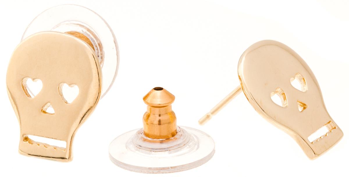 Jenavi, Коллекция Young 2, Грогги (Пуссеты), цвет - золотой,Пуссеты (гвоздики)Коллекция Young 2, Грогги (Пуссеты) гипоаллергенный ювелирный сплав,Позолота, вставка без вставок, цвет - золотой,