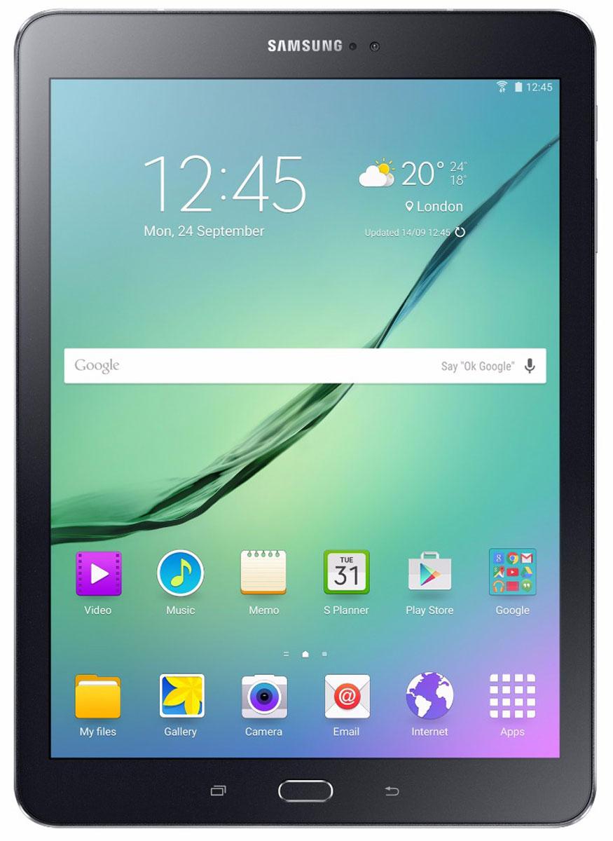 Samsung Galaxy Tab S2 9.7 SM-T819, BlackSM-T819NZKESERПланшет Samsung Galaxy Tab S2 выполнен из цельно металлического корпуса с толщиной всего 5.6 миллиметров и по праву является самым тонким планшетом в мире. При весе всего 389 грамм и диагональю 9.7 дюймов является еще и самым лёгким в своём сегменте. Стоит отметить и форм-фактор дисплея, с соотношение сторон 4:3, с таким дисплеем гораздо комфортнее пользоваться социальными сетями и интернет браузером или просто читать книгу.Планшет Samsung Galaxy Tab S2 обладает потрясающим Super AMOLED дисплеем с разрешением 2048x1536 пикселей. Два четырёхъядерных процессора с частотой 1,4 ГГц и 1,8 ГГц Qualcomm Snapdragon 652 MSM8976. Основная камера, делает отличные фото даже при слабом освещении, благодаря 8 мегапикселям и светосилы 1.9, а фронтальная, 2.1 мегапикселя для скайпа и селфи. Для зашиты персональных данных воспользуйтесь инновационным сканером отпечатка пальцев. Или блокируйте планшет по отпечатку. Чтобы разблокировать, просто прикоснитесь с кнопке Home.Планшет Samsung Galaxy Tab S2 работает под самой инновационной мобильной операционной системой Android 5.0, Lollipop, которая обеспечивает работу сразу в нескольких приложениях на одном экране. Для работы с офисными документами на планшете уже установлен пакет Microsoft Office, который работает со всеми стандартными документами. Для более длительной работы вы можете использовать режим максимально энергосбережения и продлить работу планшета в несколько раз. Планшет имеет режим специально предназначенный для детей, в котором вы можете ограничь доступ к файлам и приложениям, а так же ограничить время работы.Планшет сертифицирован EAC и имеет русифицированный интерфейс, меню и Руководство пользователя.