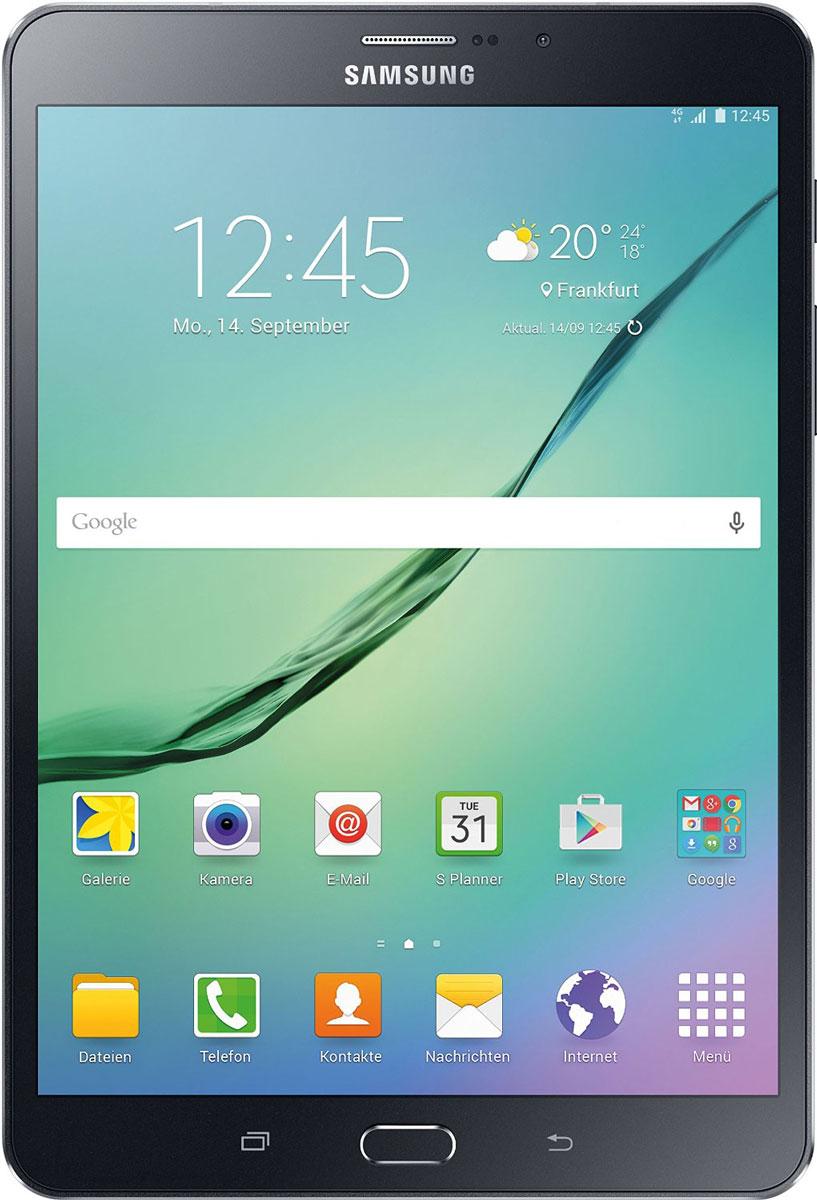 Samsung Galaxy Tab S2 8.0 SM-T719, BlackSM-T719NZKESERПланшет Samsung Galaxy Tab S2 выполнен из цельно металлического корпуса с толщиной всего 5.6 миллиметров и по праву является самым тонким планшетом в мире. При весе всего 272 грамма и диагональю 8 дюймов является еще и самым лёгким в своём сегменте. Стоит отметить и форм-фактор дисплея, с соотношение сторон 4:3, с таким дисплеем гораздо комфортнее пользоваться социальными сетями и интернет браузером или просто читать книгу.Планшет Samsung Galaxy Tab S2 обладает потрясающим Super AMOLED дисплеем с разрешением 2048x1536 пикселей. Два четырёхъядерных процессоров с чистотой 1,9 ГГц и 1,3 ГГц, 3 гигабайта оперативной памяти и 32 встроенной, которую можно увеличить картой памяти MicroSD до 128 гигабайт. Основная камера, делает отличные фото даже при слабом освещении, благодаря 8 мегапикселям и светосилы 1.9, а фронтальная, 2.1 мегапикселя для скайпа и селфи. Для зашиты персональных данных воспользуйтесь инновационным сканером отпечатка пальцев. Или блокируйте планшет по отпечатку. Чтобы разблокировать, просто прикоснитесь с кнопке Home.Планшет Samsung Galaxy Tab S2 работает под самой инновационной мобильной операционной системой Android 5.0, Lollipop, которая обеспечивает работу сразу в нескольких приложениях на одном экране. Для работы с офисными документами на планшете уже установлен пакет Microsoft Office, который работает со всеми стандартными документами. Для более длительной работы вы можете использовать режим максимально энергосбережения и продлить работу планшета в несколько раз. Планшет имеет режим специально предназначенный для детей, в котором вы можете ограничь доступ к файлам и приложениям, а так же ограничить время работы.Планшет сертифицирован EAC и имеет русифицированный интерфейс, меню и Руководство пользователя.