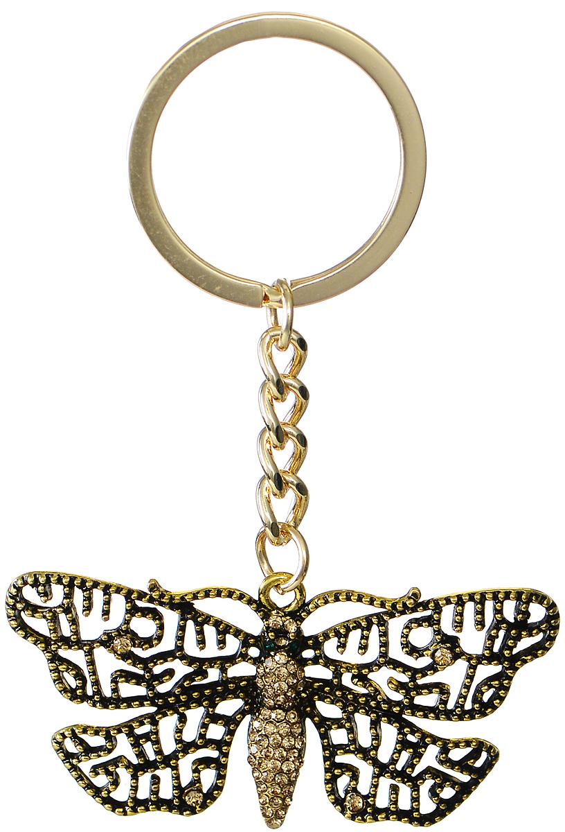 Брелок женский Mitya Veselkov, цвет: золотой. BRELOK-BABOCHKA2Брелок для ключейОригинальный брелок для ключей Mitya Veselkov изготовлен из металлического сплава с чернением. Объемный декоративный элемент выполнен в виде красивой бабочки, украшенной стразами. Замок брелока представлен в виде заводного кольца. Мелочей в образе не бывает, поэтому внимания требуют даже брелоки для ключей, ведь так приятно открывать дверь любимого дома ключом с красивым брелоком.