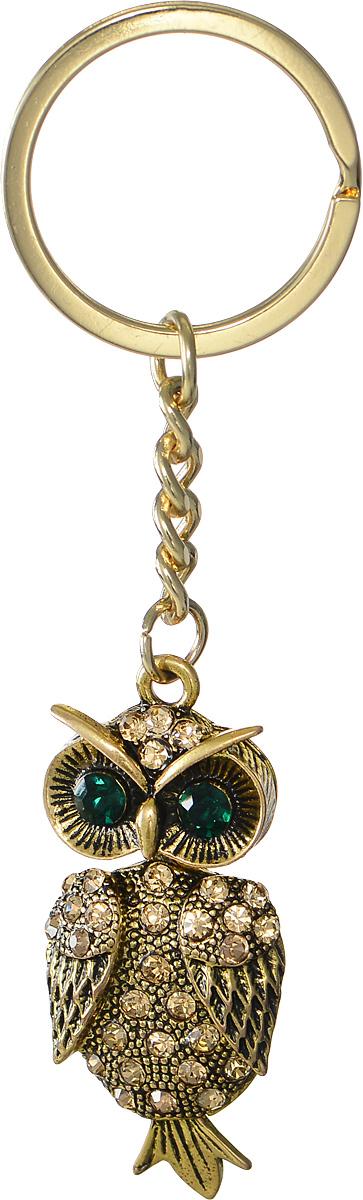 Брелок женский Mitya Veselkov, цвет: золотой. BRELOK-SOVA-GREENБрелок для ключейОригинальный брелок для ключей Mitya Veselkov изготовлен из металлического сплава с чернением. Объемный декоративный элемент выполнен в виде красивой совы, украшенной стразами. Замок брелока представлен в виде заводного кольца.Мелочей в образе не бывает, поэтому внимания требуют даже брелоки для ключей, ведь так приятно открывать дверь любимого дома ключом с красивым брелоком.