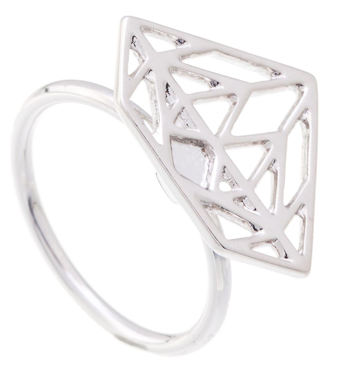 Кольцо Jenavi Young 2. Эпик, цвет: серебряный. f661f090. Размер 16Коктейльное кольцоИзящное кольцо Jenavi из коллекции Young 2. Эпик изготовлено из ювелирного сплава с покрытием из серебрения с родием. Изделие выполнено в необычном дизайне в форме треугольника. Стильное кольцо придаст вашему образу изюминку, подчеркнет индивидуальность.