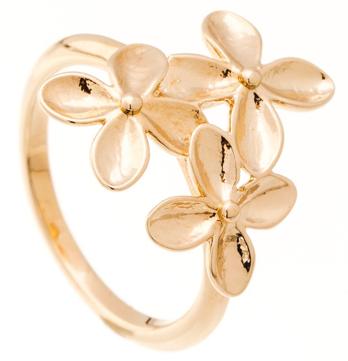 Кольцо Jenavi Young 2. Сэбэль, цвет: золотой. f670p090. Размер 17Коктейльное кольцоИзящное кольцо Jenavi из коллекции Young 2. Сэбэль изготовлено из ювелирного сплава с покрытием из позолоты. Изделие выполнено в необычном дизайне и оформлено вылитыми цветами. Стильное кольцо придаст вашему образу изюминку, подчеркнет индивидуальность.