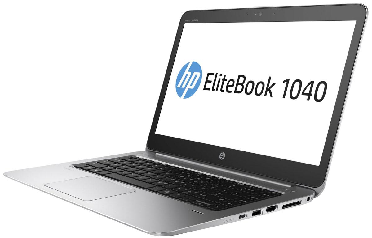 HP EliteBook Folio 1040 G3, Metallic Grey (V1A83EA)V1A83EAНоутбук HP EliteBook Folio 1040 G3 сочетает в себе стильный продуманный дизайн, непревзойденную производительность, надежность и удобные средства управления для эффективной работы. Идеальное решение для мобильной работы, которое обеспечивает максимальную надежность, высокую производительность и мощные средства работы с графикой в управляемых ИТ-средах по сравнению с другими устройствами своего класса.Легче и производительнееНоутбук HP EliteBook Folio 1040 G3 с клавиатурой HP Premium выполнен в тонком и элегантном корпусе. Он отличается высокой надежностью и соответствует стандарту MIL-STD-810G3.Полноценное рабочее местоБлагодаря аккумулятору увеличенной емкости, процессору Intel Core нового поколения, памяти объемом до 16 ГБ и твердотельному накопителю PCIe, которые увеличивают быстродействие и производительность системы, это устройство станет вашим незаменимым помощником в течение всего дня.Максимальное удобство общения и совместной работыИспользуйте модуль беспроводной глобальной сети, веб-камеру с разрешением 720p, ПО подавления шума HP Noise Reduction и аудиосистему Bang & Olufsen для удобного общения с коллегами, где бы вы ни находились.Надежность и безопасность, на которые можно положитьсяУстройство поддерживает решения Intel vPro 6 и LANDesk, которые упрощают управление устройствами и легко интегрируются в сложные ИТ-среды. Инновационное решение HP Sure Start с технологией Dynamic Protection обеспечивает защиту BIOS и позволяет сократить время простоев.Вам ничто не должно мешатьМощный ноутбук HP EliteBook Folio 1040 G3 под управлением Windows 7 Pro станет идеальным помощником в решении важных задач.Легкость подключенияНоутбук можно легко подключить к периферийным устройствам благодаря наличию всех необходимых разъемов. Для подключения мониторов и проекторов предусмотрен разъем HDMI. Благодаря двум разъемам USB 3.0 и одному разъему USB-C можно легко заряжать мобильные устройства.Пусть ваши пальцы отдохн