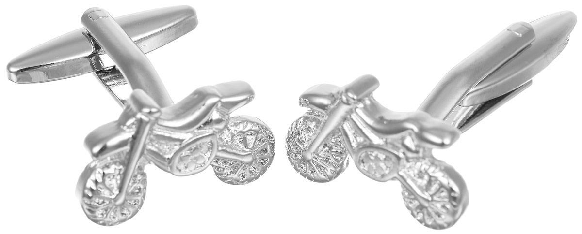 Запонки мужские Mitya Veselkov Мотоциклы, цвет: серебряный. ZAP-146Запонки асимметричныеЗапонки современного дизайна Mitya Veselkov Мотоциклы изготовлены из металлического сплава.Изделие застегивается на вращающийся штырек. Данная модель представлена в виде мотоцикла.Стильный аксессуар подчеркнет ваш образ, а также придаст элегантность и неповторимость имиджу.