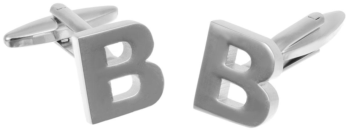 Запонки мужские Mitya Veselkov Буква B, цвет: серебряный. ZAP-256Запонки асимметричныеЗапонки современного дизайна Mitya Veselkov Буква B изготовлены из металлического сплава.Изделие застегивается на вращающийся штырек. Данная модель представлена в виде буквы В.Стильный аксессуар подчеркнет ваш образ, а также придаст элегантность и неповторимость имиджу.