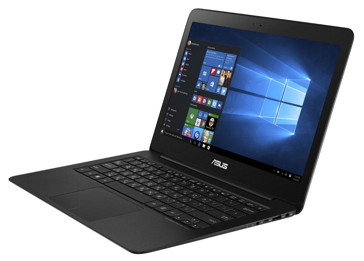 ASUS ZenBook UX305CA, Black (UX305CA-DQ124T)UX305CA-DQ124TAsus Zenbook UX305CA - это ультратонкий 13.3-дюймовый ноутбук с оригинальным дизайном в тонком алюминиевом корпусе.Выполненный из цельного блока алюминия, корпус ультрабука Zenbook UX305CA является изящным и практичным одновременно. Сужающаяся форма способствует комфортному положению рук пользователя, а великолепная отделка моментально выделяет его среди конкурентов.В аппаратную конфигурацию Zenbook UX305 входит процессор Intel Core, 8 ГБ оперативной памяти и твердотельный накопитель емкостью 256 ГБ. С таким техническим оснащением этот ультрабук готов к любой задаче, независимо от степени ее сложности.Аккумулятор высокой емкости и интеллектуальная система управления энергопотреблением обеспечивают длительное время автономной работы – до 10 часов при включенном модуле Wi-Fi. После напряженного рабочего дня у этого ультрабука будет еще достаточно заряда, чтобы дать пользователю отдохнуть за развлекательными приложениями.Беспроводной модуль Wi-Fi, встроенный в Zenbook UX305, соответствует новейшему высокоскоростному стандарту 802.11ac, но является совместимым и с сетями предыдущих поколений. Кроме того, данный ультрабук поддерживает беспроводной периферийный интерфейс Bluetooth 4.0.Данная модель оснащается экраном с разрешением 1920х1080 пикселей и высокой яркостью (300 кд/м2). Пиксельная плотность составляет 276 пикселей на дюйм, поэтому изображение отличается высочайшей четкостью и детализированностью. Ключевой особенностью ультрабуков Asus с системой охлаждения IceCool является то, что горячие компоненты размещены подальше от рук пользователя, поэтому верхняя часть корпуса всегда остается комфортно прохладной.Клавиатура этого ультрабука может похвастать продуманной эргономикой клавиш, каждая из которых обладает оптимизированным сопротивлением нажатию. Ваши руки не устанут даже после долгой работы с текстом. Тачпад, которым оснащается Zenbook UX305, обладает высокой чувствительностью и поддерживает множество р