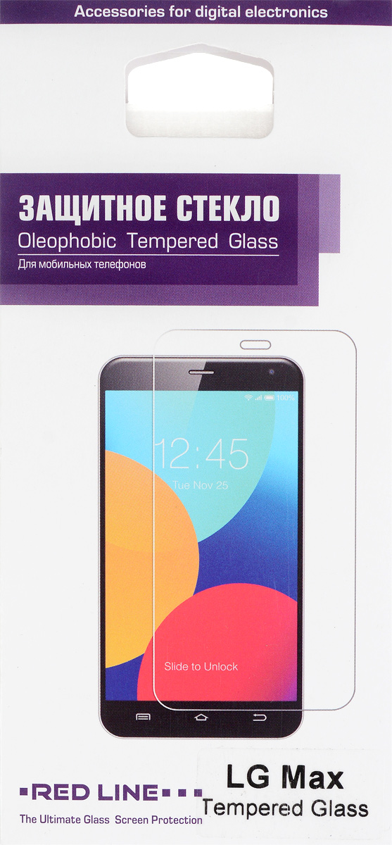 Red Line защитное стекло для LG MaxУТ000007452Защитное стекло Red Line для LG Max предназначено для защиты поверхности экрана от царапин, потертостей, отпечатков пальцев и прочих следов механического воздействия. Оно имеет окаймляющую загнутую мембрану, а также олеофобное покрытие. Изделие изготовлено из закаленного стекла высшей категории, с высокой чувствительностью и сцеплением с экраном.