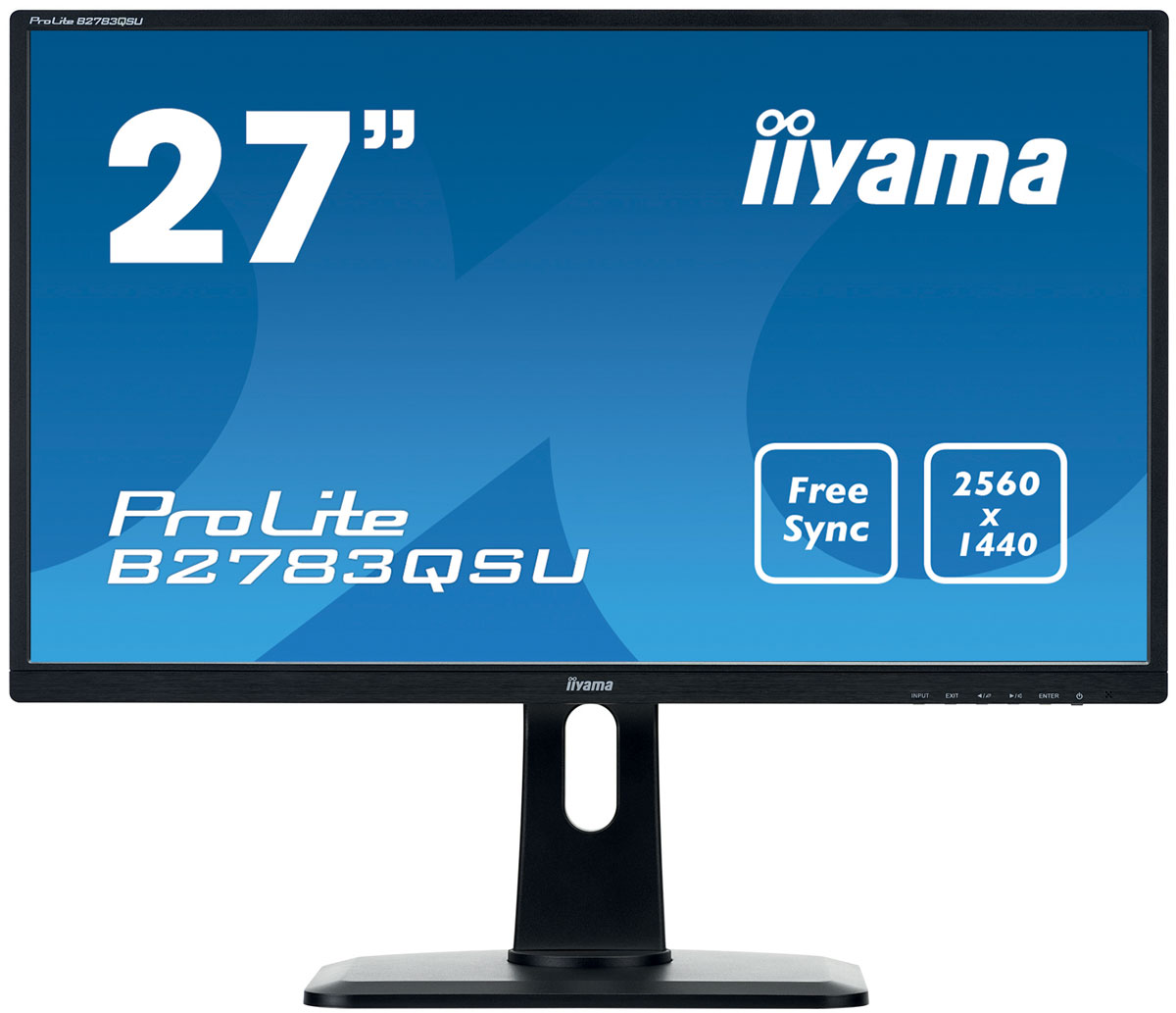 iiyama B2783QSU-B1, Black монитор