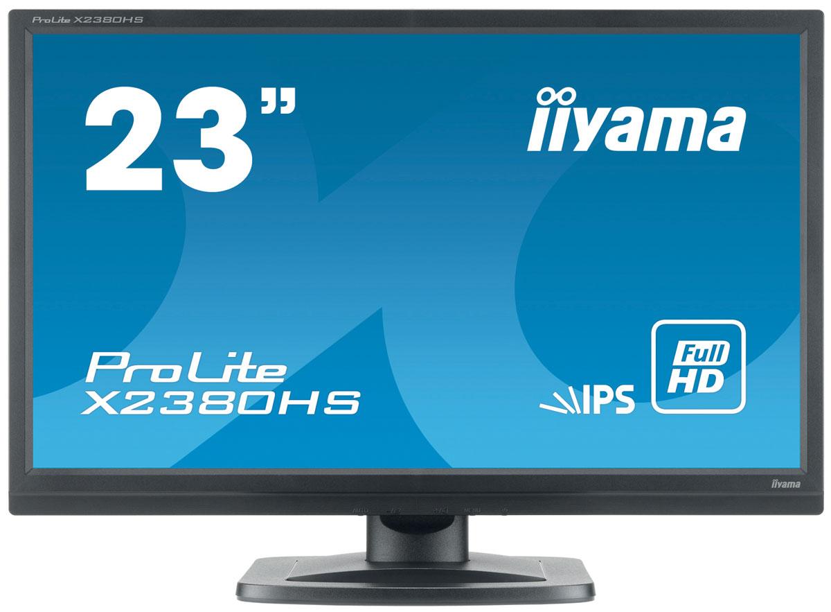 iiyama X2380HS-B1, Black мониторX2380HS-B1iiyama X2380HS - это 23 дюймовый монитор с подсветкой LED и матрицей IPS, которая считается оптимальным решением для мониторов LCD. Это технология которая характеризуется отличной цветопередачей и хорошими углами обзора. Динамическая контрастность, широкие углы обзора (на уровне 178°), быстрое время отклика (5мс) обеспечивают отличную работу в хорошем разрешении Full HD. Это профессиональный монитор так для графических приложений как и высшего качества ммонитор для требовательных игроков.