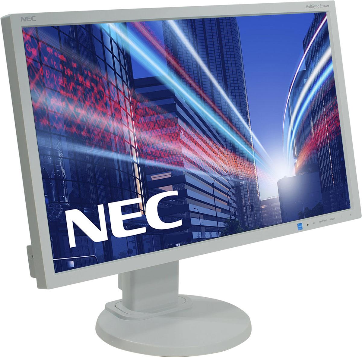 NEC E233WM, White мониторE233WMНастройка монитора NEC E233WM согласно вашим индивидуальным предпочтениям еще никогда не была такой простой, быстрой и эффективной. Высокая эргономическая гибкость, например, регулировка по высоте, изменение угла наклона и возможность поворота, а также вертикальная и горизонтальная ориентация монитора, создает более удобные и продуктивные условия для работы.Активная антибликовая поверхность экрана монитора обеспечивает удобочитаемое и приятное для глаз качество изображения, предоставляя лучшее исполнение для лучших результатов в работе, благотворные впечатления от просмотра и удовлетворенность пользователей дисплея. Благодаря сокращению энергопотребления в режиме Eco на 50 % дисплей E233WM защищает не только окружающую среду от вредного воздействия, но и ваш кошелек от лишних затрат.