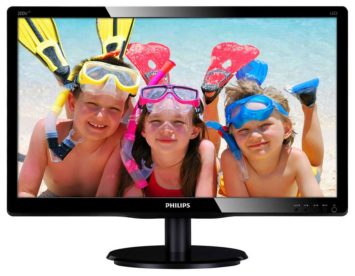 Philips 200V4LAB2 (00/01), Black монитор