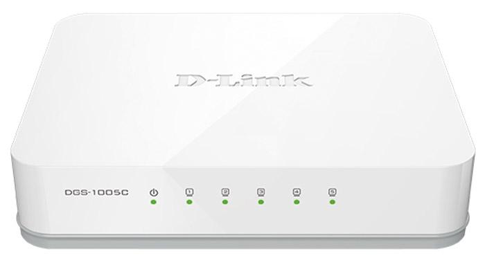 D-Link DGS-1005C/A1A коммутаторDGS-1005C/A1AНеуправляемый коммутатор DGS-1005C с 5 портами 10/100/1000Base-T представляет собой недорогое решение для сетей SOHO и предприятий малого и среднего бизнеса (SMB). Коммутатор поддерживает функцию Plug-and-play, которая обеспечивает простую установку, и предоставляет широкую полосу пропускания.Высокоскоростная работа в сети:Обеспечивая скорость передачи данных до 2000 Мбит/с в режиме полного дуплекса, коммутатор DGS-1005С является идеальным решением для быстрой передачи файлов, игр в режиме онлайн и передачи потокового мультимедиа без задержек. Коммутатор оснащен индикаторами для каждого порта, позволяющими быстро определить статус соединения. DGS-1005С также поддерживает функцию автоматического определения полярности MDI/MDIX, что позволяет напрямую подключить к каждому порту сетевое устройство, используя обычный Ethernet-кабель на основе витой пары.Экономия электроэнергии:Коммутатор DGS-1005С использует стандарт 802.3az Energy Efficient Ethernet, обеспечивающий автоматическое сохранение электроэнергии и снижение тепловыделения без влияния на производительность и функциональные характеристики. Если подключенный к порту коммутатора компьютер выключен, или передача данных не выполняется, то порт автоматически перейдет в спящий режим, существенно снижая потребляемую энергию. Кроме того, коммутатор определяет длину подключаемых к портам Ethernet-кабелей и регулирует соответствующим образом энергопотребление на этих портах, используя лишь необходимое количество энергии. Обе эти функции работают вместедля автоматического сохранения энергии. Установка Plug-and-play:Коммутатор DGS-1005C поддерживает технологию Plug-and-play, позволяющую подключать к нему устройства без произведения дополнительных настроек. Благодаря поддержке Plug-and-play процесс создания локальной сети значительно упрощается, и в своей домашней сети или сети офиса Вы можете совместно использовать файлы, музыку и видео или запускать многопользовательские сетевые 