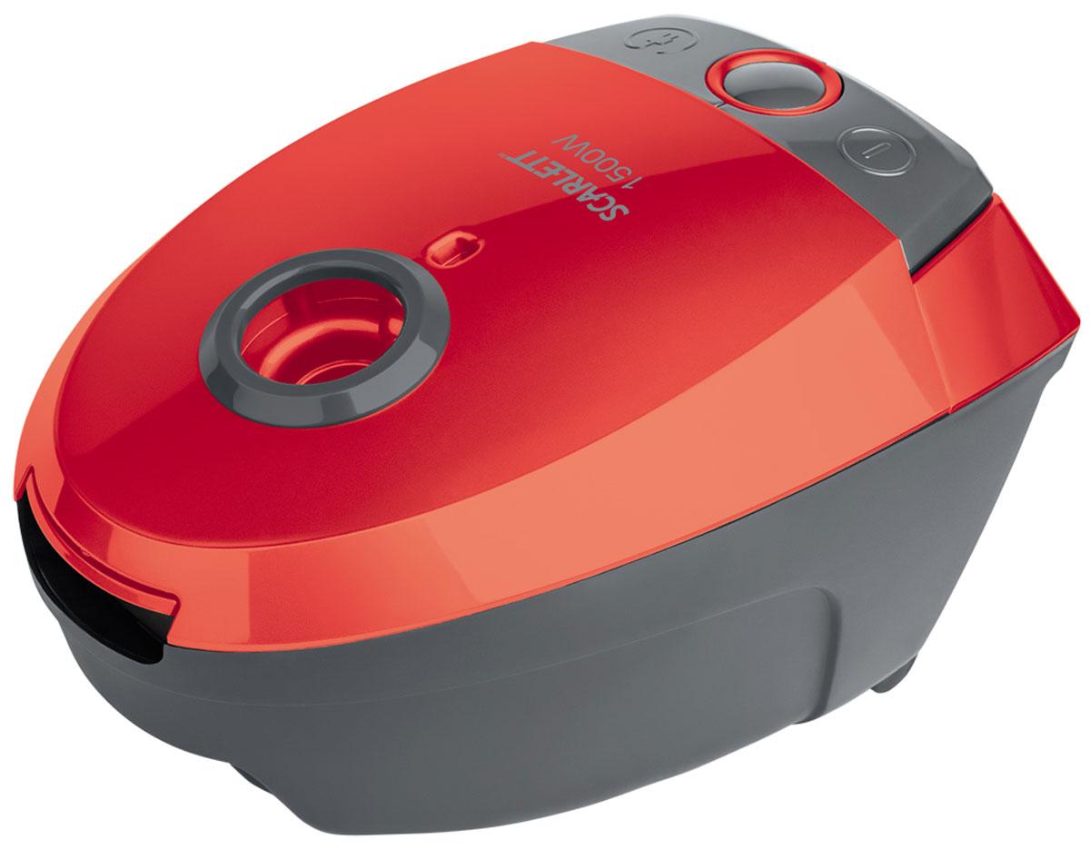 Scarlett SC-VC80B07, Red пылесосSC-VC80B07Scarlett SC-VC80B07 - мощный и надежный пылесос, который избавит дом от грязи, пыли, аллергенов. Многоразовый мешок Dust-trap задерживает мельчайшие частицы пыли, поддерживая здоровую атмосферу в доме. Специальный индикатор, расположенный на эргономичном корпусе оповестит о заполнении пылесборника.2 постоянных антистатических фильтра грубой очистки защищают мотор от загрязнения и предотвращают повторное попадание пыли в помещение в процессе уборки. Устройство обладает высокой маневренностью и набором специальных насадок, благодаря чему вы можете убрать пыль даже в самых труднодоступных местах.Возможность включения и выключения ногойРучка для удобства переноски
