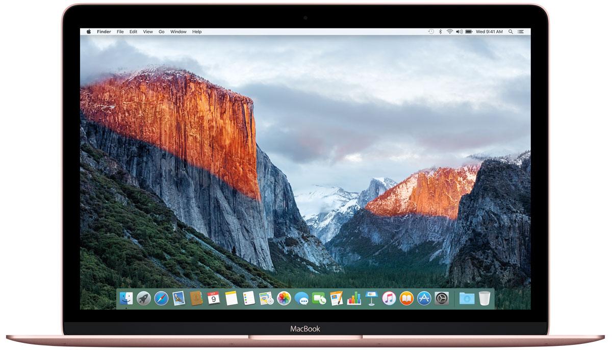 Apple MacBook 12, Rose Gold (MMGL2RU/A)MMGL2RU/AApple MacBook 12 - стильный и инновационный ноутбук будущего. Это легкий и ультратонкий мобильный компьютер с длительным сроком автономной работы и цельным дизайном.Клавиатура обновлена от А до Я.Каждый компонент клавиатуры был спроектирован специально для нового MacBook: основной механизм, форма изгиба клавиш и даже новый уникальный шрифт. В результате клавиатура стала гораздо тоньше, чем все предыдущие. Теперь, когда вы нажимаете на клавишу, она чётко опускается и поднимается без малейших задержек - и ваш текст набирается быстрее и точнее. Новый механизм бабочка представляет собой цельный элемент, изготовленный из более жёстких материалов, с большей площадью опоры. Благодаря этому клавиши стали более устойчивыми, точнее реагируют на нажатия и при этом занимают меньше места по высоте. Эта инновационная технология обеспечивает более чёткую и стабильную работу вне зависимости от того, на какую часть клавиши вы нажимаете.Для нового MacBook были созданы более тонкие клавиши с более широкой поверхностью и глубоким изгибом, чтобы палец точнее попадал в центр и нажатие получалось более естественным. На первый взгляд изменения минимальны, но работать с клавиатурой стало ощутимо проще и удобнее. А в сочетании с механизмом бабочка новая клавиатура позволяет печатать с гораздо большей точностью.Потрясающая реалистичность изображения - не единственное достоинство 12-дюймового дисплея Retina на новом MacBook. Он ещё и невероятно тонкий. На самом деле, это самый тонкий дисплей Retina, который когда-либо использовался на Mac: всего 0,88 миллиметра. Специально разработанный процесс автоматического производства позволяет выпускать стекло толщиной всего 0,5 миллиметра, которое полностью покрывает экран. Увеличенная апертура пикселей позволяет пропускать больше света, а также сократить энергопотребление подсветки LED на 30% по сравнению с дисплеями Retina на других ноутбуках Mac, сохранив тот же уровень яркости.Трекпад Force TouchВнешне