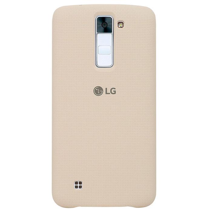 LG Back Cover чехол для K350, WhiteCSV-160.AGRAWHЧехол LG Back Cover для K350 имеет утонченный дизайн с тканевым узором на задней крышке. Он обеспечивает максимальное удобство в использовании, а прорезиненное покрытие из твердого пластика - дополнительную защиту от повреждений.