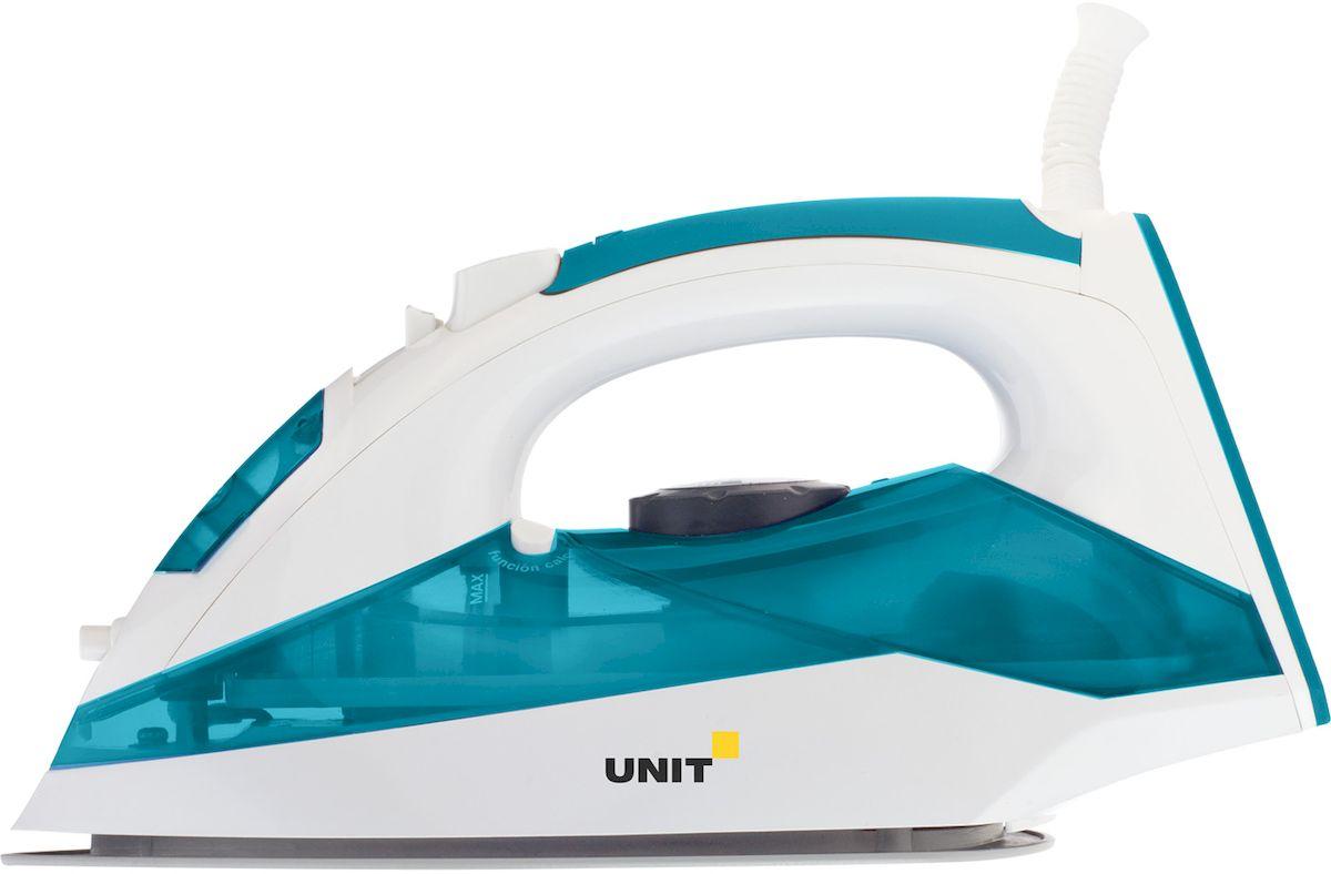 Unit USI-281, Sea Wave утюгUSI-281 sea waveУтюг UNIT USI-281 2200Вт, Подошва - Керамическое покрытие, самоочистка, анти-накипь, анти-капля, вертикальное отпаривание, Цвет - Морская волна