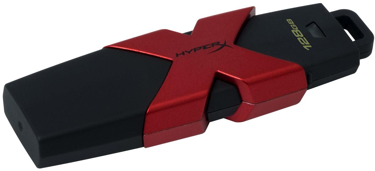 Kingston HyperX Savage 128GB USB-накопительHXS3/128GBKingston HyperX Savage - это стильный накопитель с элегантным черным корпусом и фирменным логотипом HyperX в агрессивном красном цвете. Он предназначен для использования с различными платформами и игровыми консолями, включая PS4, PS3, Xbox One и Xbox 360.USB-накопитель HyperX Savage обеспечивают высокую скорость работы (до 350 Мб/с) для экономии времени во время передачи файлов и позволяют быстро открывать, изменять и переносить файлы с накопителя без снижения производительности. Благодаря большой емкости, у вас будет достаточно места для хранения больших файлов (фильмов, фотографий с высоким разрешением, музыки и т.д.). Устройство соответствует спецификациям USB 3.1 Gen 1, поэтому вы сможете воспользоваться всеми преимуществами портов USB 3.1 в настольных компьютерах и ноутбуках, а также обратной совместимостью с USB 3.0 и USB 2.0.