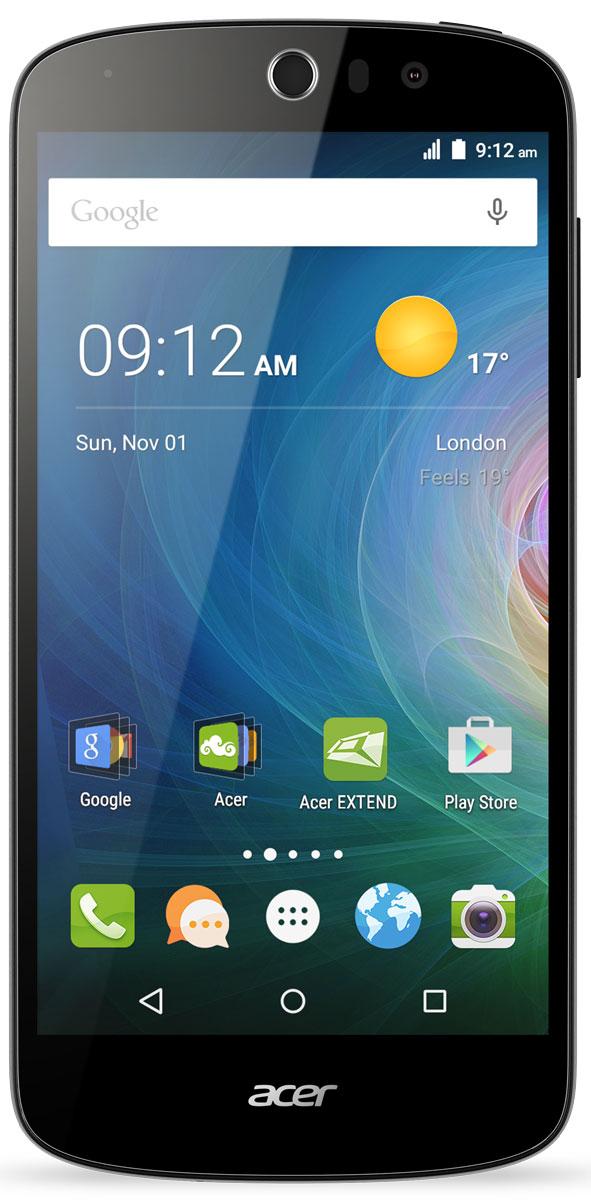 Acer Liquid Z530 16GB, BlackHM.HQUEU.002Смартфон Liquid Z530 с помощью встроенных в камеру функций создает яркие и красочные фотографии. Благодаря технологиям IPS, Acer Lumiflex и конструкции Zero Air Gap экран с естественной цветопередачей, насыщенностью и контрастом вы получите яркие фотографии и поделитесь ими с друзьями.Камера смартфона Liquid Z530 с углом съемки 84 градуса, разрешением 8 Мпикс и дополнительными режимами съемки позволит создавать потрясающие сэлфи в кругу друзей или на фоне панорамы.Смартфон Liquid Z530 поддерживает жесты быстрого доступа, которые позволяют управлять некоторыми функциями, просто проведя пальцем по экрану. Например, открывается доступ к голосовому вызову, камерам, проигрывателю, а также элементам управления проигрывателем. Несколько касаний и все это у вас под рукой.Телефон сертифицирован EAC и имеет русифицированный интерфейс меню и Руководство пользователя.