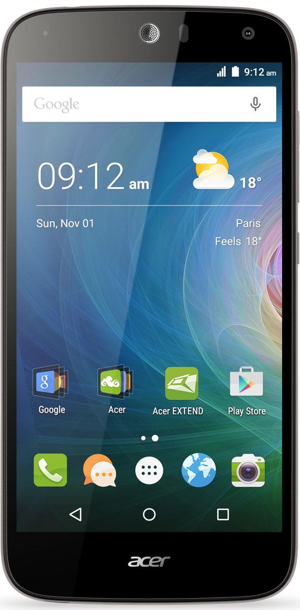 Acer Liquid Z630, SilverHM.HQGEU.002Оцените возможности смартфона Acer Liquid Z630: продолжительное время автономной работы, превосходную производительность и высочайшее качество изображения на 5.5 HD-дисплее с технологией IPS.Мощный 64-разрядный четырехядерный процессор обеспечивает быстрое время отклика, удобство работы в браузере, плавное воспроизведение видео и прохождение видеоигр на великолепном 5,5 HD-экране. Батарея 4000 мАч обеспечивает бесперебойную работу устройства в течение всего дня без подзарядки.Удивите своих друзей. Снимите общее сэлфи высокого качества на камеру с широким углом съемки, просто сказав Чиз. Снимки сэлфи с разрешением 8 МП будут прекрасно смотреться на дисплее с технологией IPS, которая обеспечивает высокое качество изображения под любым углом обзора.Заряжайте телефоны друзей с помощью своего мобильного устройства через порт MicroUSB. Кроме того, вы можете подключить к этому порту флэш-накопитель USB, чтобы воспроизводить медиаконтент, загружать и сохранять файлы, а также обмениваться ими с друзьями.Телефон сертифицирован EAC и имеет русифицированный интерфейс меню и Руководство пользователя.