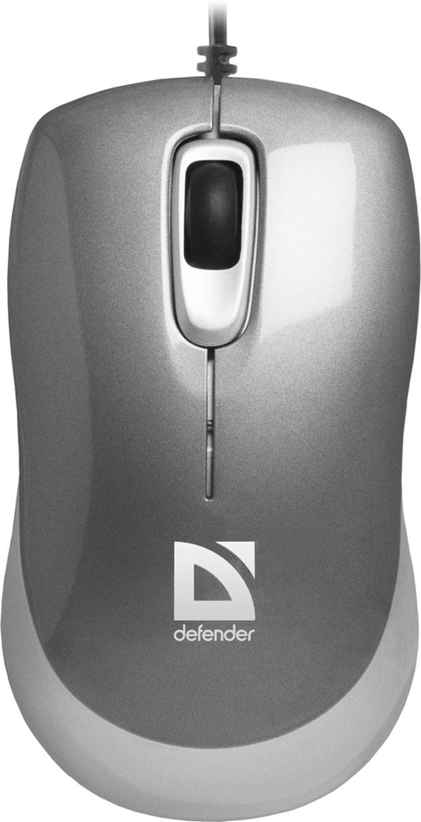 Defender Orion MM-300, Gray проводная оптическая мышь
