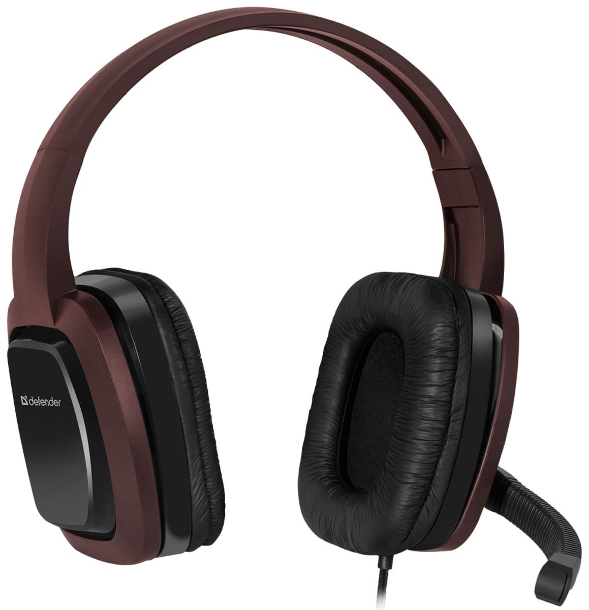 Defender Warhead G-250, Brown игровая гарнитура64120Игровая гарнитура Defender Warhead G-250 предназначена для компьютеров нового поколения, использующих комбинированный четырехпиновый разъем для наушников и микрофона. Наушники закрытого типа с большими 40 мм динамиками гарантируют мощный чистый звук. На кабеле гарнитуры удобно расположен регулятор громкости. Благодаря надежной звукоизоляции и комфортным амбюшурам вы сможете играть или слушать музыку с комфортом - ничто не будет вам мешать!Частотный диапазон микрофона: 20 Гц - 16 кГцСопротивление микрофона: 2,2 кОмЧувствительность микрофона: 54 дБ