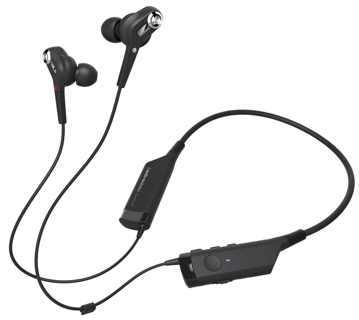 Audio-Technica ATH-ANC40BT наушники4961310132194Audio-Technica ATH-ANC40BT - это Bluetooth-гарнитура с вставными наушниками, обеспечивающая великолепное качество звука и отличное шумоподавление. Модель отличается уникальным дизайном и удобной посадкой благодаря шейному креплению. Наслаждайтесь музыкой при любом, даже самом активном, образе жизни! Пульт управления, которым оснащена гарнитура, позволяет принимать звонки, завершать разговор, регулировать громкость и перелистывать треки на вашем смартфоне или портативном аудиоустройстве.Уникальная беспроводная Bluetooth-гарнитураКачественное звучаниеУдобное шейное креплениеДо 90% активного шумоподавленияПульт управления, позволяющий отвечать на звонки и управлять музыкойВозможность воспроизведения музыки после полной разрядки гарнитуры