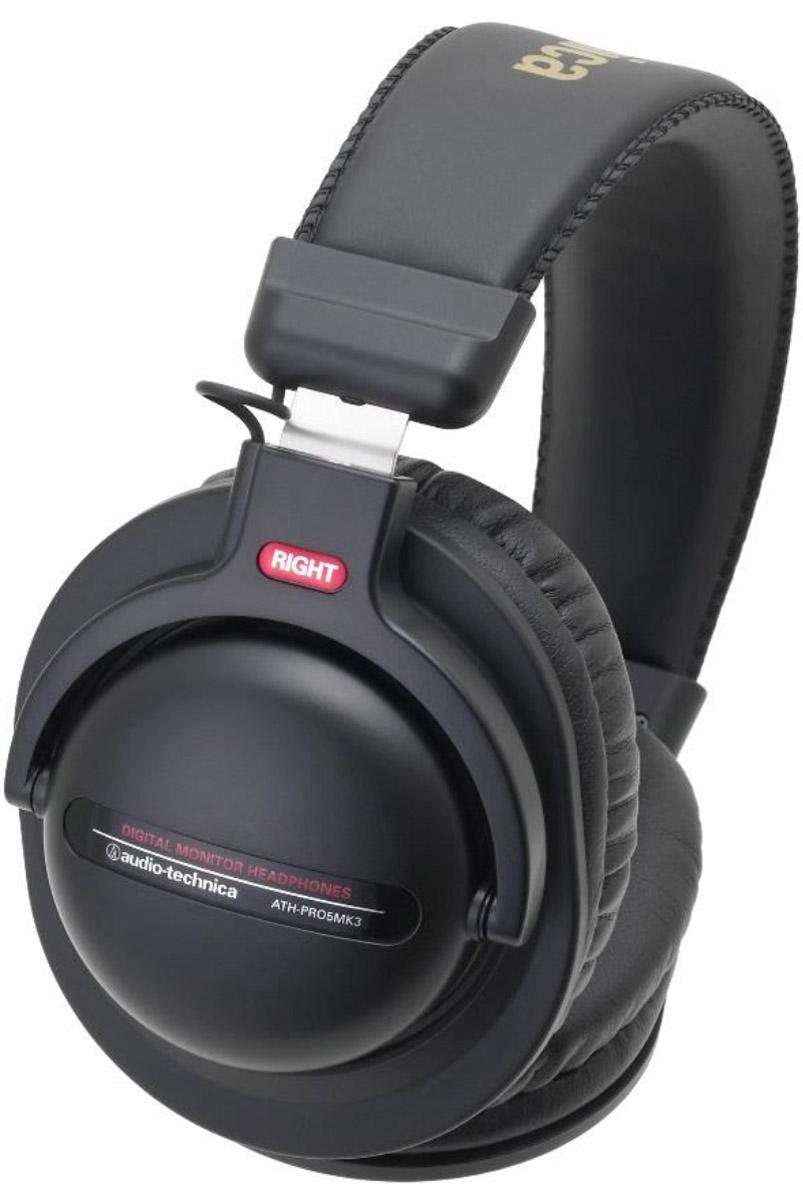 Audio-Technica ATH-PRO5MK3, Black наушники15118117Audio-Technica ATH-PRO5MK3 – это профессиональные мониторные наушники с отличными аудиохарактеристиками. Они представляют удачное сочетание современных технологий и высококачественных материалов для исключительной четкости звука с богатыми басами.Модель имеет съёмный кабель, в комплекте идёт прочный витой шнур для студийного использования, а также кабель с пультом управления и микрофоном для использования со смартфонами. Поворотные чашки позволяют производить мониторинг одним ухом, мягкое регулируемое оголовье обеспечивает максимальный комфорт при ношении, а мониторные амбушюры отличаются превосходной шумоизоляцией.44-мм драйверы обеспечивают точное воспроизведение звука для DJ-монторингаМощный звук за счёт большой магнитной силыВозможность мониторинга одним ухом