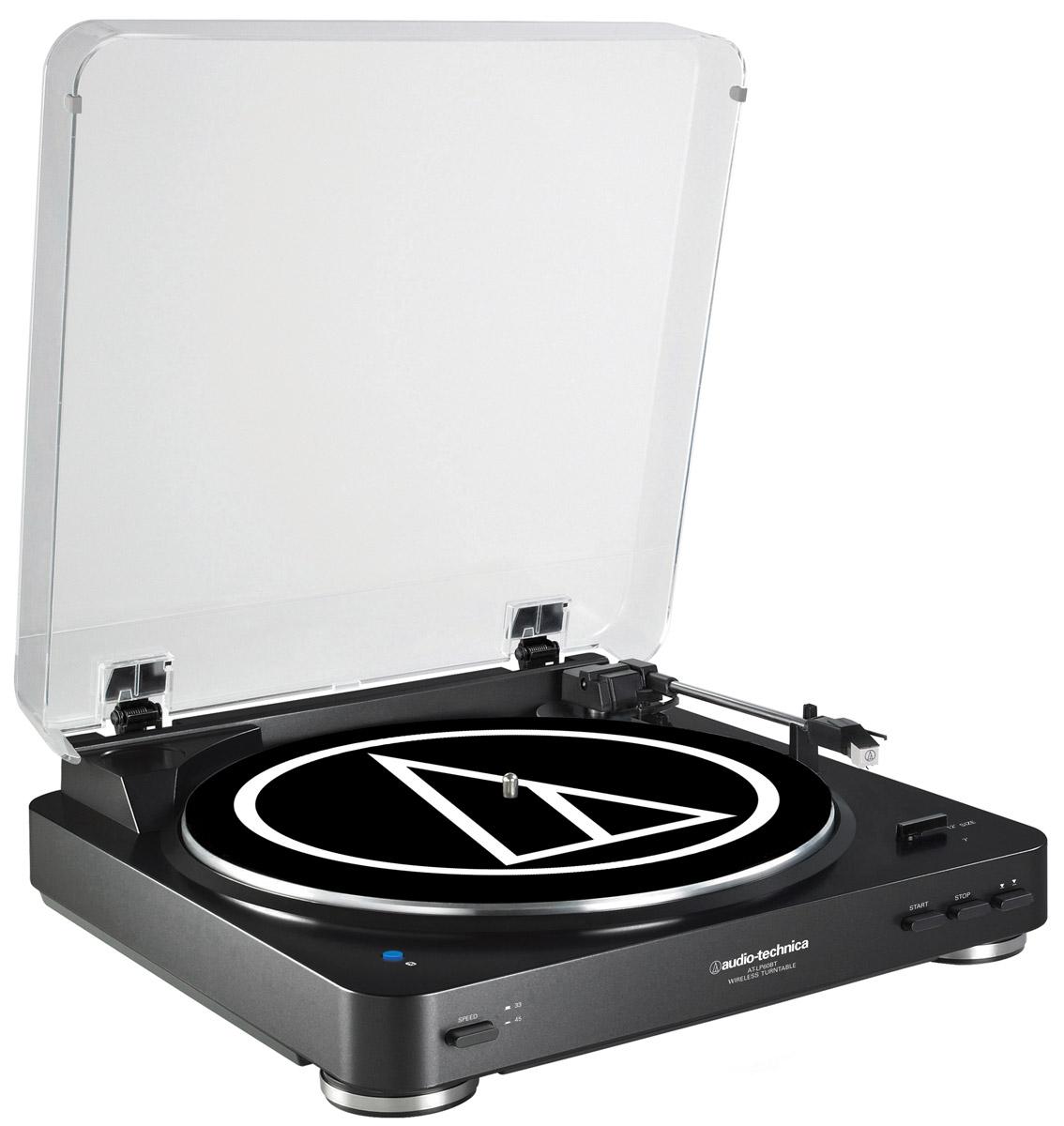Audio-Technica AT-LP60BT, Black проигрыватель виниловых дисков15118423Audio-Technica AT-LP60BT - это полностью автоматический проигрыватель виниловых пластинок с поддержкой Bluetooth, привносящий легендарное звучание Audio-Technica в мир беспроводных соединений.Данная модель обеспечит выдающийся звук с легкость в автоматическом режиме: просто нажмите кнопку Пуск, чтобы начать воспроизведение записи, и кнопку Стоп, чтобы поднять и вернуть тонарм и выключить поворотный стол. Кнопка подъема тонарм также включена, чтобы позволить вам поднимать и опускать тонарм без остановки проигрывателя.Беспроводное подключение к устройствам, поддерживающим протокол Bluetooth (колонки, наушники, ресиверы)Проводное подключение к аудиосистемам и колонкам через двойной RCA-кабельВстроенный предусилитель с функцией отключенияАнтирезонансный литой опорный диск из алюминияВстроенный звукосниматель AT3600L с двумя подвижными магнитами, оснащённый съёмной алмазной иглойТип звукоснимателя: VM Мотор DC с сервоприводом Спецификация Bluetooth v3,0, Power Class 2, A2DPРадиус действия 10 мПоддержка кодека SBC