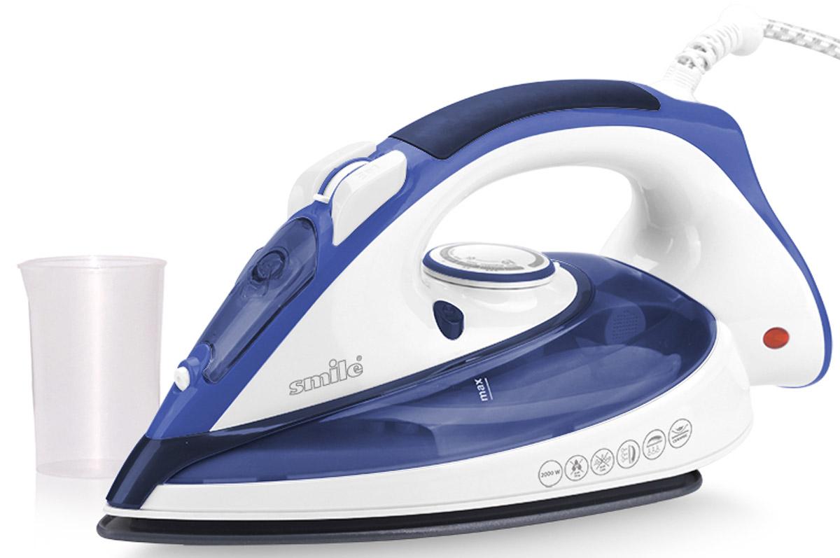 Smile SI 974, White Blue утюгSI 974Утюг Smile SI 974 - это современный и необходимый для каждой хозяйки прибор. Мощность модели довольно высока и составляет 2000 Вт, что обеспечивает высокую эффективность и скорость работы. Керамическая подошва легко скользит по поверхности любого вида ткани.