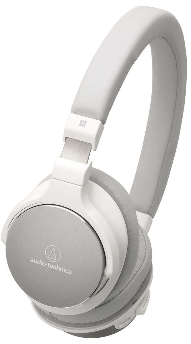 Audio-Technica ATH-SR5BT, White наушники10102365Audio-Technica ATH-SR5BT - это лёгкие беспроводные наушники с достойным качеством воспроизведения музыки. Интегрированный модуль Bluetooth запоминает до 8 устройств, сопряжение происходит всего лишь одним касанием руки. Проводное подключение также обеспечит вам превосходную чёткость звука благодаря 45-мм драйверам.Специально разработанные 45-мм драйверыДо 38 часов непрерывного воспроизведения от аккумулятораРегулировка громкости и управление микрофоном расположены на наушниках для удобного управленияТехнология NFC позволяет легко выполнять сопряжение одним касаниемПенные амбушюры обеспечивают непревзойденный комфорт