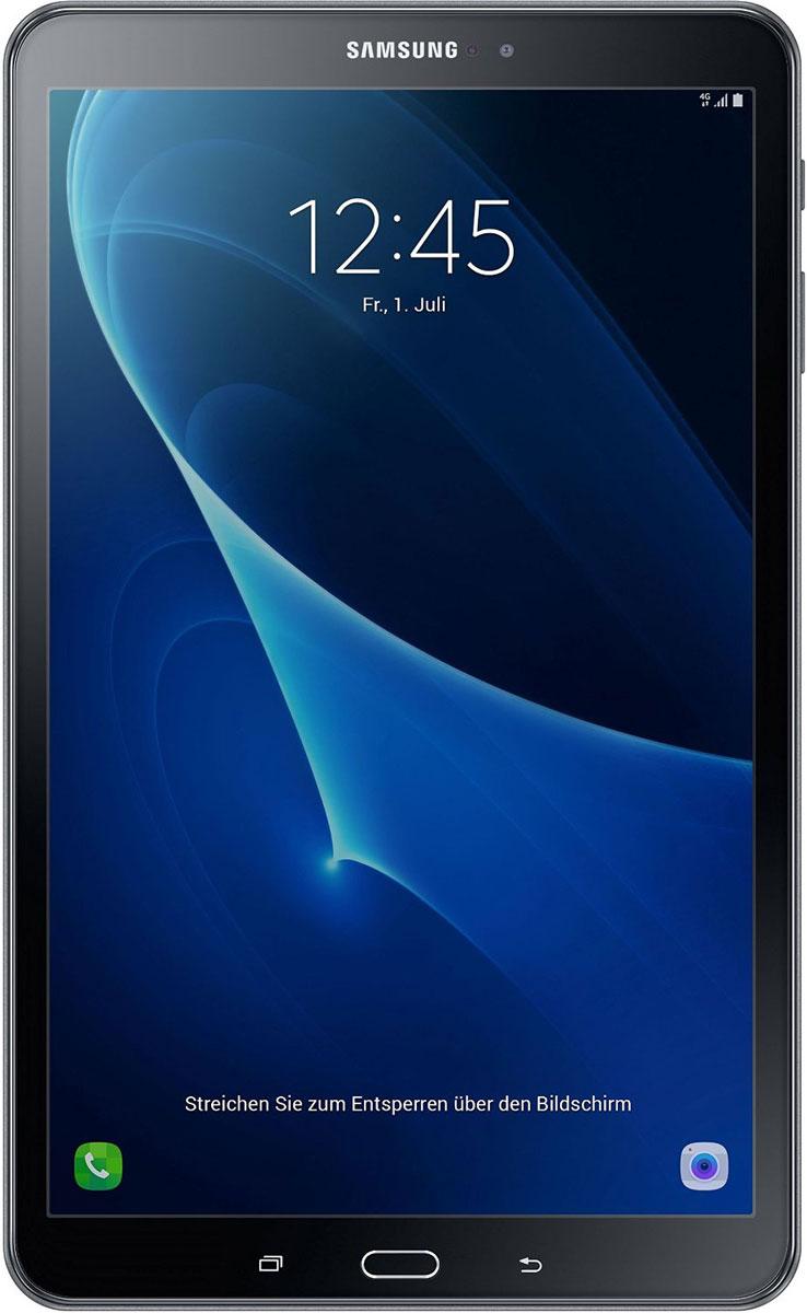 Samsung Galaxy Tab A 10.1 SM-T585, BlackSM-T585NZKASERПланшетный компьютер Samsung Galaxy Tab A 10,1 привлекает своей компактностью в сочетании с производительностью.В тонком корпусе с классическим дизайном уместилась достойная начинка: восьмиядерный процессор Samsung Exynos 7 Octa 7870 с тактовой частотой 1,6 ГГц и 2 ГБ оперативной памяти. За качественное изображение отвечает яркий и сочный 10-дюймовый экран с разрешением 1920x1200.Удобный размер планшета позволяет использовать его с одинаковым комфортом и для чтения книг, и для интернет-серфинга, и для развлечений.Точная автофокусировка помогает основной камере 8 Мпикс справиться со съемкой движущихся предметов и получить четкий снимок. Фронтальная камера 2 Мпикс придет на помощь, если нужно сделать автопортрет.Данная модель одинаково подходит как для взрослых, так и для детей. Встроенный таймер ограничивает время, проведенное ребенком за планшетом, а разнообразный увлекательный и образовательный контент поможет малышу провести время с пользой.Встроенный аккумулятор 7300 мАч, подзаряжаемый через microUSB, по заявлению производителя способен обеспечить стабильную работу в течение дня, это примерно 10 часов.Планшет сертифицирован EAC и имеет русифицированный интерфейс, меню и Руководство пользователя.