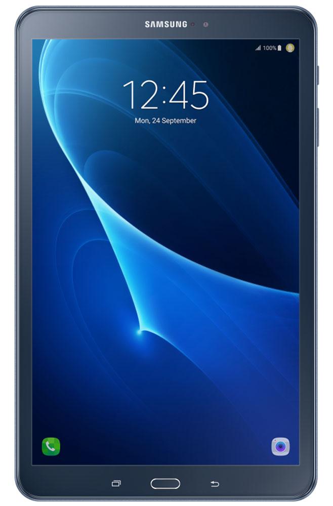 Samsung Galaxy Tab A 10.1 SM-T585, BlueSM-T585NZBASERПланшетный компьютер Samsung Galaxy Tab A 10,1 привлекает своей компактностью в сочетании с производительностью.В тонком корпусе с классическим дизайном уместилась достойная начинка: восьмиядерный процессор Samsung Exynos 7 Octa 7870 с тактовой частотой 1,6 ГГц и 2 ГБ оперативной памяти. За качественное изображение отвечает яркий и сочный 10-дюймовый экран с разрешением 1920x1200.Удобный размер планшета позволяет использовать его с одинаковым комфортом и для чтения книг, и для интернет-серфинга, и для развлечений.Точная автофокусировка помогает основной камере 8 Мпикс справиться со съемкой движущихся предметов и получить четкий снимок. Фронтальная камера 2 Мпикс придет на помощь, если нужно сделать автопортрет.Данная модель одинаково подходит как для взрослых, так и для детей. Встроенный таймер ограничивает время, проведенное ребенком за планшетом, а разнообразный увлекательный и образовательный контент поможет малышу провести время с пользой.Встроенный аккумулятор 7300 мАч, подзаряжаемый через microUSB, по заявлению производителя способен обеспечить стабильную работу в течение дня, это примерно 10 часов.Планшет сертифицирован EAC и имеет русифицированный интерфейс, меню и Руководство пользователя.