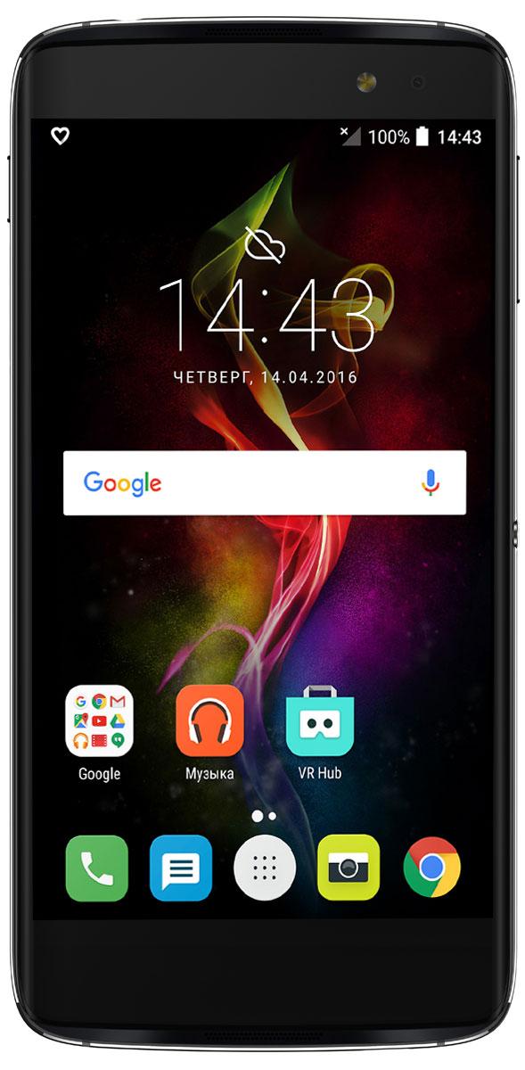 Alcatel OT-6070K Idol 4S, Dark Grey6070K-2CALRU7Благодаря уникальной клавише БУМ Alcatel Idol 4S предлагает вам новый уровень возможностей. Устройство обладает стильным дизайном, мощным объемным звуком, превосходным экраном и реверсивным интерфейсом, а также камерами, обеспечивающими высококачественный уровень съемки.Нажмите на клавишу БУМ, чтобы расширить возможности смартфона и получить новый опыт. Делайте фото быстрее, экран - ярче, а звук - мощнее, делитесь изображениями, запускайте трансляцию видео и не только! Делайте мгновенное фото в режиме ожидания или целую серию снимков продолжительным нажатием клавиши.Создавайте произвольные композиции из ваших снимков и мгновенно делитесь ими с друзьями. Снимайте видео в высоком качестве и осуществляйте его трансляцию в социальные сети в реальном времени. Наслаждайтесь впечатляющим трехмерным эффектом, отображающим погодную анимацию на экране смартфона на основе реальных данных. Всего одного нажатия клавиши БУМ достаточно для запуска нитро двигателя и серьезного ускорения во время игры.Почувствуйте энергию живого объемного звука вместе с двумя мощными стереодинамиками, Hi-Fi гарнитурой JBL и профессиональной аудиотехнологией Waves. Благодаря приложению Onetouch Music - интегрированной музыкальной экосистеме - Alcatel Idol 4S предлагает уникальные аудиовозможности.В любом положении - даже вверх тормашками - Alcatel Idol 4S корректно отображает пользовательский интерфейс. А левый и правый аудиоканалы легко меняются местами, когда вы поворачиваете смартфон вокруг оси. И даже если положить Idol 4S дисплеем вниз, звук всё равно останется безупречно чистым и громким.Сверхбыстрая фокусировка для мгновенных фото, интерактивные изображения, поразительно естественная цветопередача c двухтоновой вспышкой, яркие ночные селфи с фронтальной вспышкой - с камерами профессионального уровня можно дать волю творчеству. Раскрой свои таланты вместе с Alcatel Idol 4S!Наслаждайтесь экраном, обеспечивающим безупречное изображение под любым угл