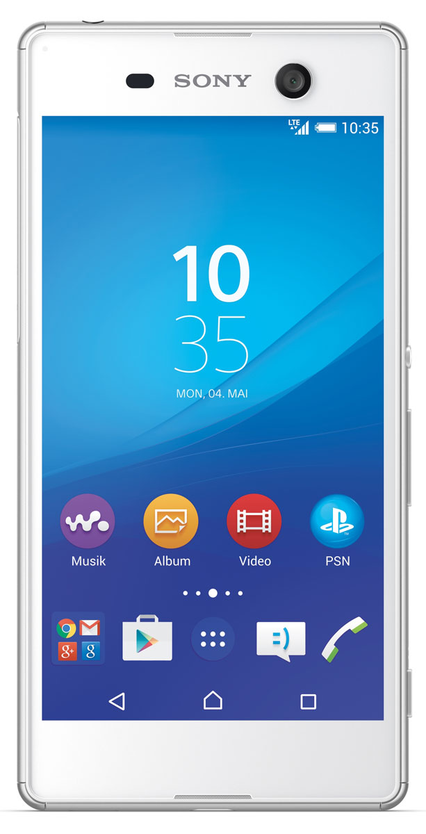 Sony Xperia M5, WhiteE5603WhiteSony Xperia M5 - идеальной сбалансированный водонепроницаемый смартфон, созданный на базе новейших разработок Sony. Снимайте только отличные фото в нужный момент. А гибридная автофокусировка, срабатывающая за 0,25 секунды, камера на 21,5 МП и масштабирование повышенной четкости обеспечат профессиональное качество ваших снимков.Данная модель оснащена камерой с разрешением 21,5 Мпикс со светочувствительностью ISO 3200. Таким образом вам гарантированы чистые четкие снимки каждый раз, когда вы нажимаете на кнопку. Смартфон может также производить съемку четких, ярких и насыщенных видео в разрешении 4K (3840x2160). Не можете подобраться к объекту фотосъемки достаточно близко? Не беда: технология Clear Image позволяет в 5 раз увеличить масштаб, не теряя в качестве изображения.Что нужно для отличного селфи? Лишь вы и качественная фронтальная камера на вашем устройстве. Фронтальная камера Xperia M5 оснащена матрицей с разрешением 13 Мпикс, автофокусировкой и фильтром, выравнивающим цвет кожи, чтобы каждое ваше фото выглядело свежо и эффектно.Съездите в другой город, выберитесь в пеший поход, устройте вечеринку с друзьями или просто посмотрите весь новый сезон любимого сериала: теперь аккумулятор смартфона больше не будет диктовать вам, что делать и где быть. Новый Xperia M5 выдерживает до 2 дней без подзарядки, чтобы вы могли заниматься тем, чем хотите.Смартфон испачкался? Не беда: просто помойте его. Водонепроницаемый смартфон Xperia M5 легко выдерживает не только струю воды из-под крана, но и внезапный ливень, так что при необходимости вы сможете позвонить, даже если вам негде укрыться, - или сделать прекрасные фото под дождем.Смартфон сертифицирован EAC и имеет русифицированный интерфейс меню, а также Руководство пользователя.