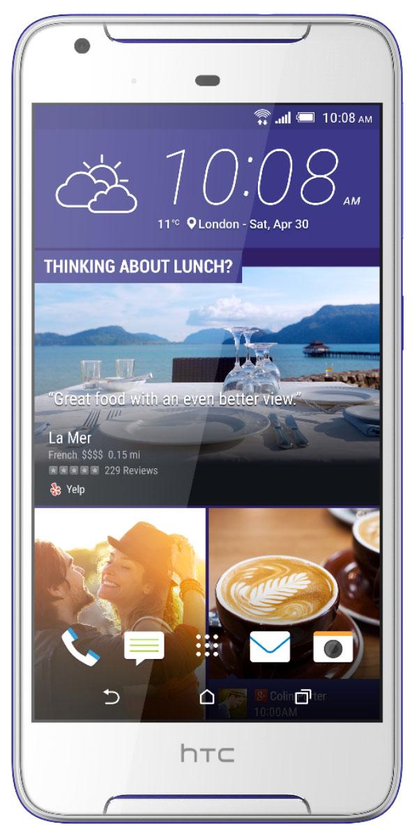 HTC Desire 628 DS, Cobalt White99HAJZ031-00Задача обратить на себя внимание еще никогда не решалась настолько просто. HTC Desire 628 dual sim - это контрастное сочетание цветов корпуса и отличный дизайн, которые точно не останутся незамеченными. Начинка смартфона тоже поражает: отличные основная и фронтальная камеры, четкий HD экран, звук с эффектом погружения и профиль громкого звука HTC BoomSound.HTC Desire 628 dual sim разрушает стереотипы: в отделке корпуса сочетаются яркие высококонтрастные цвета, а фронтальная часть полностью покрыта стеклом, плавно переходящим в боковую грань, что оставляет ощущение завершенности и лаконичности.HTC Desire 628 dual sim - это не только яркий привлекательный дизайн. С помощью приложения HTC Темы можно оформить рабочий экран смартфона в своем вкусе. Меняй форму и размер иконок, шрифт, мелодии звонка и обои – теперь все в твоих руках! Для оформления можно выбрать одну из сотен готовых тем или же создать свою собственную тему на основе понравившейся тебе фотографии.С HTC Desire 628 dual sim снимать легко и просто: все технические задачи решены, и тебе остается просто заметить интересный кадр и нажать кнопку спуска затвора. Во встроенном Фоторедакторе ты сможешь, при необходимости, обработать сделанные снимки или добавить в них интересных эффектов. Отличная фронтальная камера позаботится о том, чтобы тебе понравилось каждое сделанное селфи.Снимки в высоком разрешении, детализированное видео в формате FullHD (до 30 к/с) - HTC Desire 628 dual sim справится с любой поставленной задачей! С основной камерой с диафрагмой f/2.0 и BSI-сенсором ты сможешь делать качественный снимки даже в условиях недостаточной освещенности.Функция Голосовое Селфи позволит снимать отличные автопортреты не касаясь экрана. А с функцией Быстрый Макияж ты сможешь, при необходимости, сгладить тон кожи в кадре и оценить результат еще до начала съемки. Автопортреты должны быть только статичными? Вовсе нет! Снимай FullHD видео-селфи и делись ими с друзьями!В режиме 
